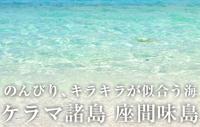 のんびり、キラキラが似合う海 ケラマ諸島 座間味島