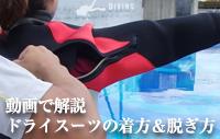 動画で解説 ドライスーツの着方&脱ぎ方