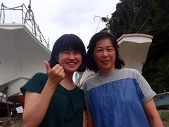 田島英利佳さん(左)<br /> 田島公代さん(右)