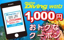 1,000円OFFクーポンで近場をお得にダイビング!