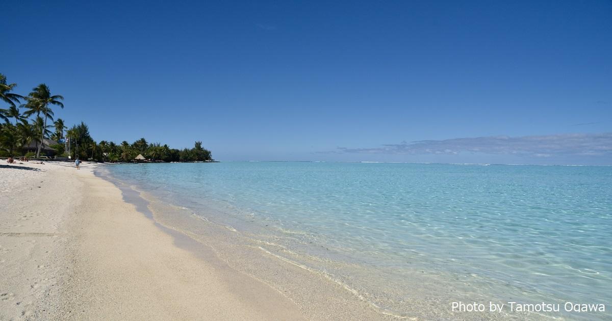 美しいタヒチのマティラビーチ