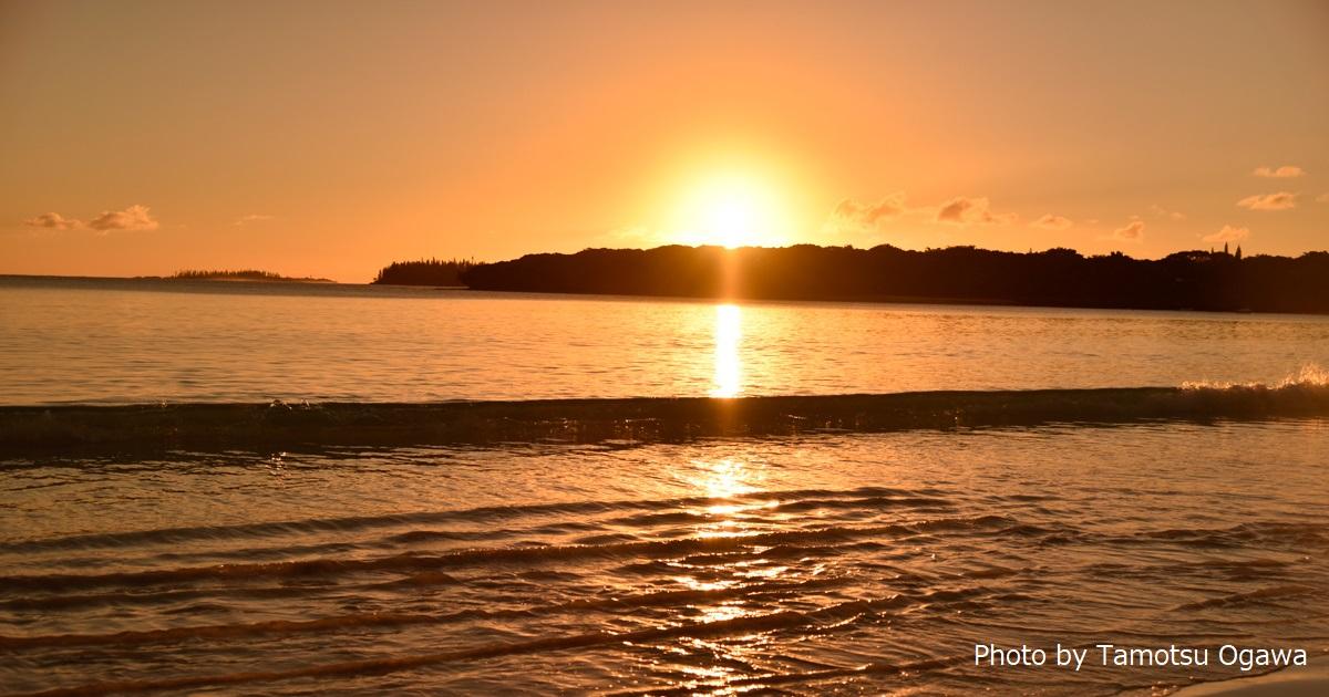 ニューカレドニアのビーチで、サンセットが見たい!(イルデパン、クトビーチ)