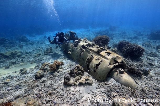 零式艦上戦闘機二一型とダイバーラバウル(パプアニューギニア)
