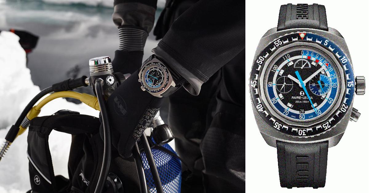 世界初 水深120mまで測定できる機械式腕時計