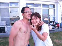 まっちょ(左)<br /> 越智恭子さん(右)
