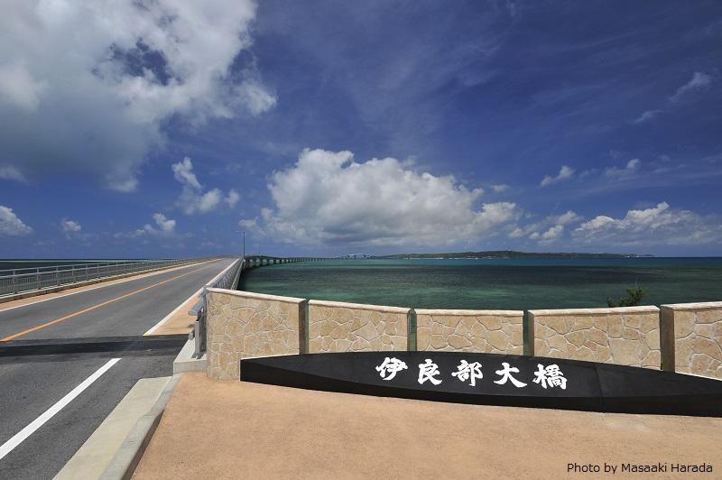 伊良部大橋の先にあるのが、伊良部島。 下地島はそのさらに先にある