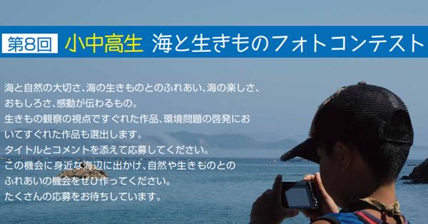小中高生 海と生きものフォトコン作品募集中!