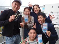 望月美緒乃さん(中) 坂本隆司さん(下) 岡豊さん(右)