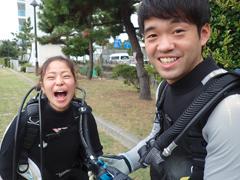 松村未来さん(左) 山村彩人さん(右)