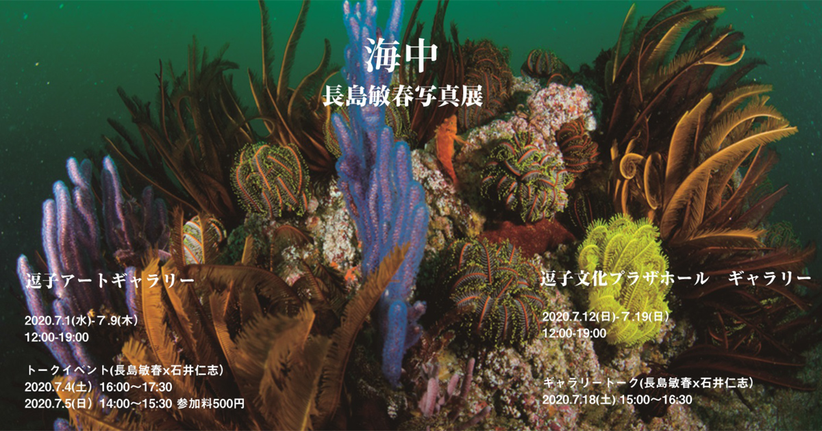 長島敏春さん写真展「海中」開催!