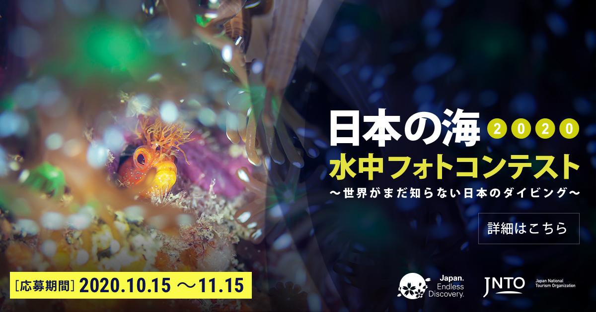 「日本の海 水中フォトコンテスト2020」 開催!