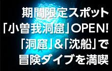 熱海の期間限定スポット「小曽我洞窟」OPEN!「洞窟」&「沈船」で海中探険