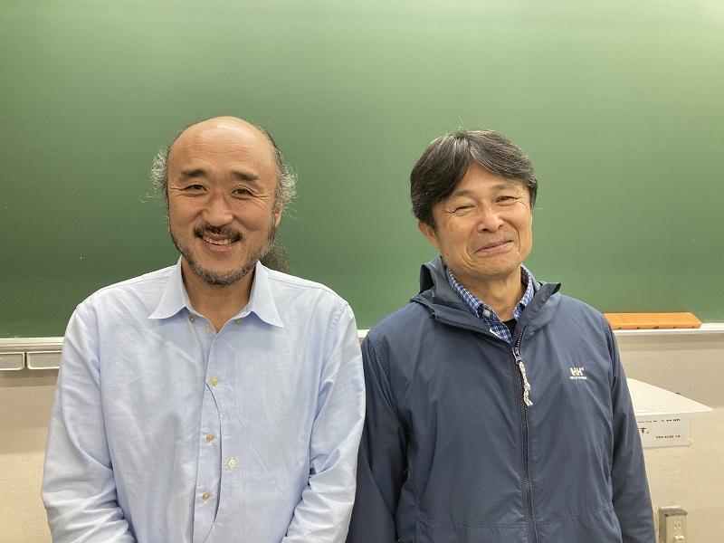 高砂淳二さん(左)と武本匡弘さん(右)