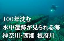 根府川で「プラットホームスペシャルティ」を取って水中遺跡に詳しくなろう!