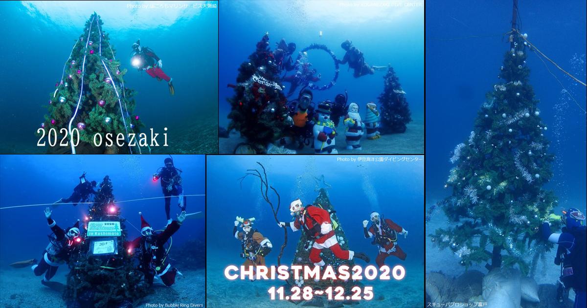 2020年 海中クリスマスツリー情報まとめ