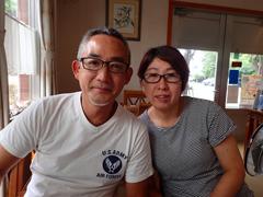 大島清秀さん(左) 幸子さん(右)