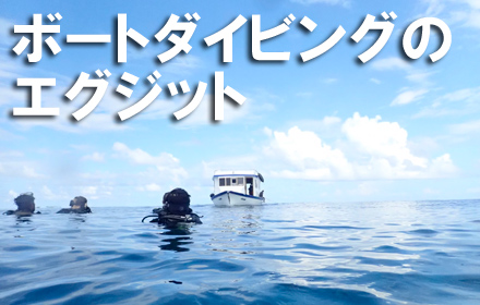 ボートダイビングのエグジット