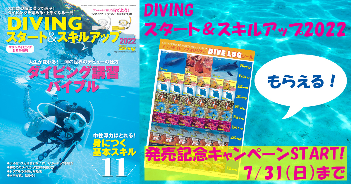 『DIVINGスタート&スキルアップ』発売記念キャンペーン