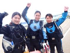 ミサキ(左) アトムくん(中) 海おばさん(右)